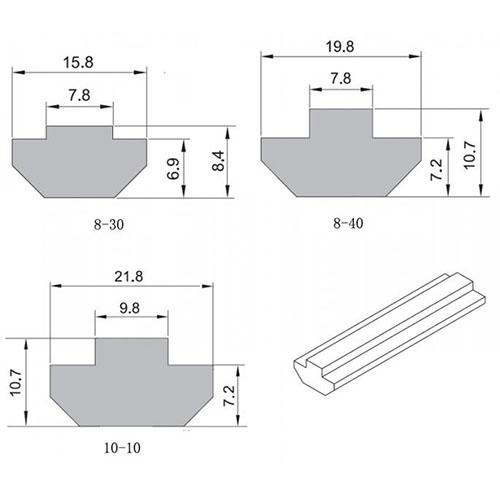 Aluminium Corner Section
